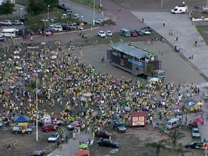 Protesto em Vitória (Foto: Reprodução/ TV Gazeta)