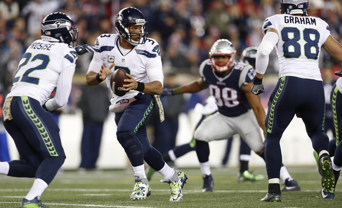 Russell Wilson Seattle Seahawks x New England Patriots (Foto: Greg M. Cooper/Reuters)