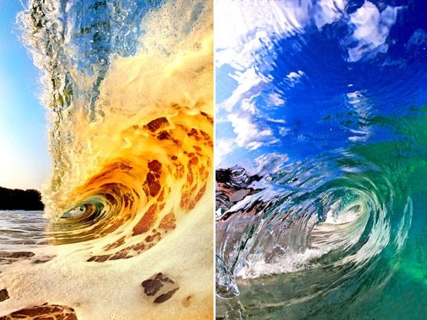 A mistura de espuma e areia na água também cria efeitos únicos (Foto: Caters)