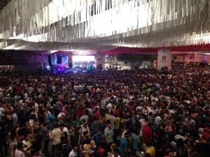 Todos os pavilhões ficaram lotados (Foto: Larissa Vier/RBS TV)