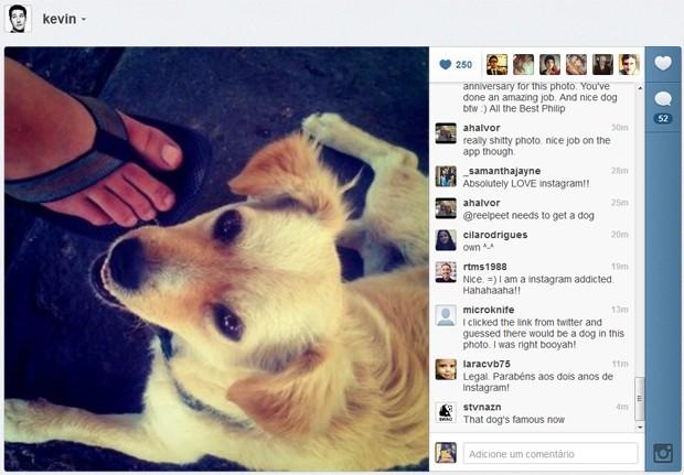 Primeira foto publicada no Instagram (Foto: Reprodução)
