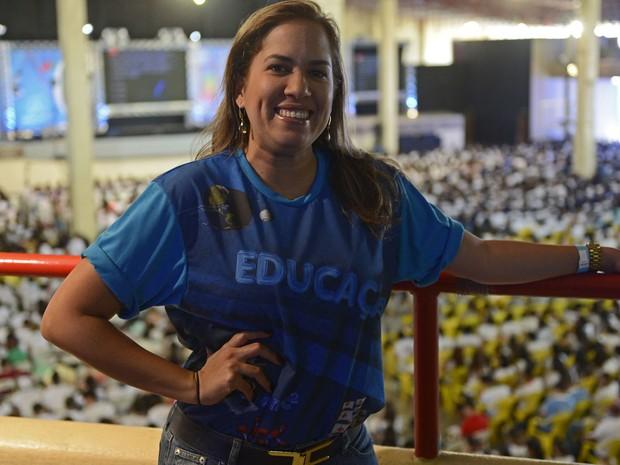 Carol Bello, professora de espanhol do Projeto Educação (Foto: Luka Santos / G1)
