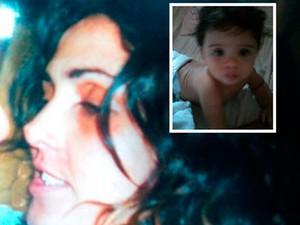 Josenilde e o bebê de oito meses (Foto: Cedida/arquivo da família)