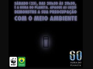 Itanhaém, SP, participa da ação 'Hora do Planeta' neste sábado (Foto: Reprodução/Site Municipal de Itanhaém)