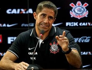 Sylvinho coletiva Corinthians (Foto: Daniel Augusto Jr. / Ag. Corinthians)