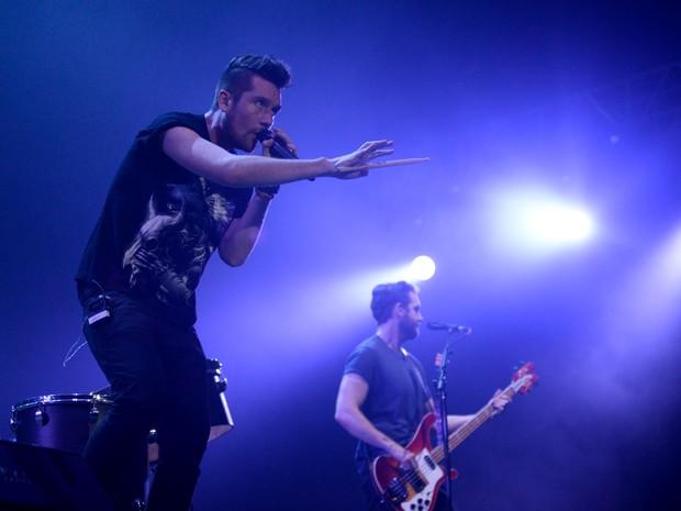 Bastille apresenta último show do palco Axe no primeiro dia (Foto: Marcelo Brandt/G1)