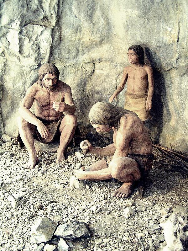 Reprodução de família de Neandertais (Foto: Jaroslav A. Polák/Flickr/Creative Commons)