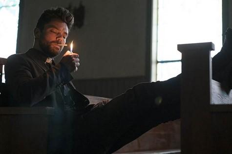 Dominic Cooper em cena como Jesse Custer em 'Preacher' (Foto: Lewis Jacobs/AMC)