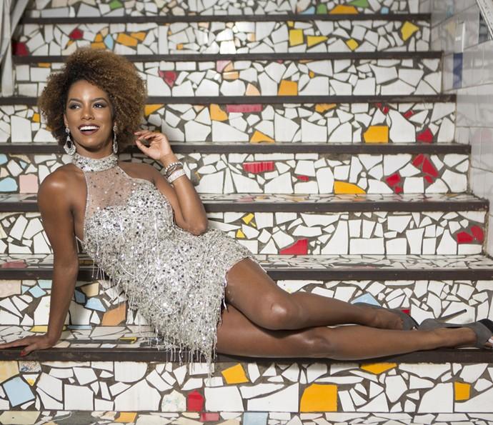 Para Ivi, ser musa não é só saber sambar: 'Tem que ter postura' (Foto: Carol Caminha/Gshow)