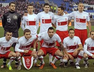 Polônia Seleção Euro 15/11/2011 (Foto: Agência AFP)