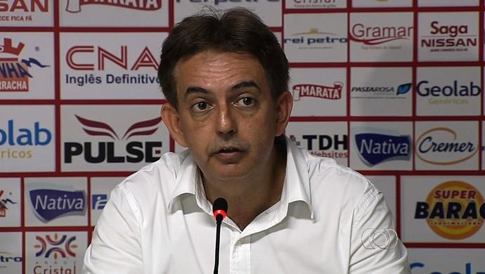 Wilson Balzacchi - presidente do Conselho Deliberativo do Vila Nova (Foto: Reprodução / TV Anhanguera)