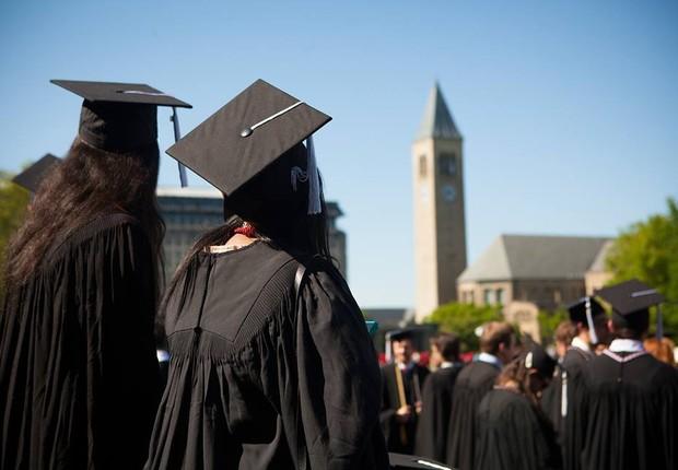 Formandos da Cornell, nos Estados Unidos (Foto: Reprodução/Facebook/Cornell)