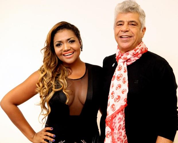 Gaby Amarantos Lulu Santos (Foto: Isabella Pinheiro/TV Globo)