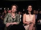 Fernanda Montenegro comemora 86 anos no show de Gil e Caetano