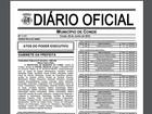 Diário Oficial do Conde, na Paraíba, publica homologação de concurso
