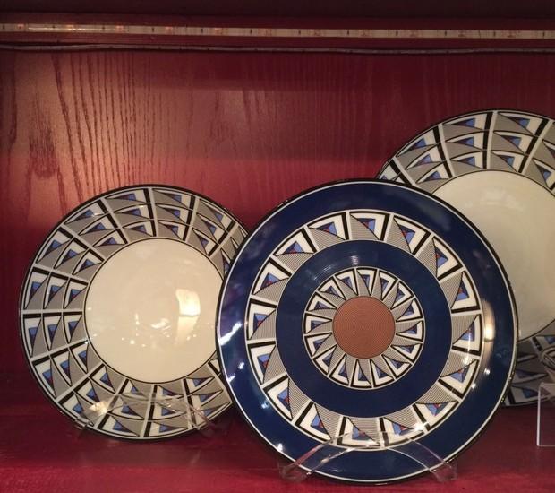 Com exclusividade, a 6F traz para os lojistas coleções da Richard Ginori de porcelanas pintadas à mão. Na foto, coleção Áurea (Foto: Casa e Jardim)