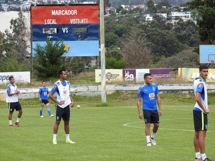 Léo Santos, Gabriel e Rogerio seleção sub-20 (Foto: Lucas Loos / GloboEsporte.com)