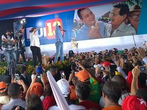 Convenção do PT na Bahia (Foto: Henrique Mendes/G1)