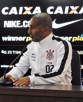 Cristóvão Borges coletiva CT Corinthians (Foto: Diego Ribeiro)