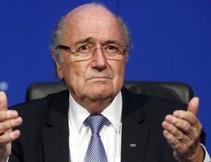 Joseph Blatter - coletiva da Fifa - novas eleições