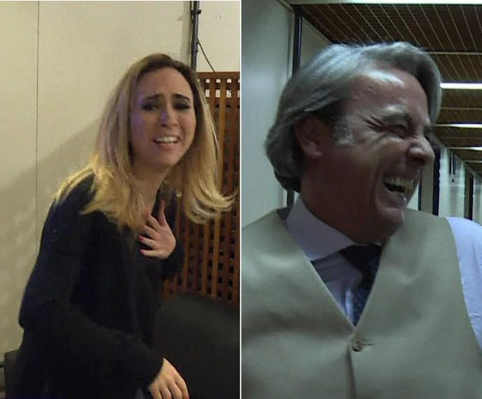 Tatá e Alexandre: susto (Foto: TV Globo)