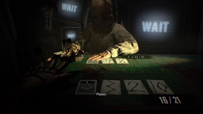 Inteligência artificial do DLC de Resident Evil 7 não blefa e sempre joga seguro (Foto: Reprodução/Felipe Demartini)