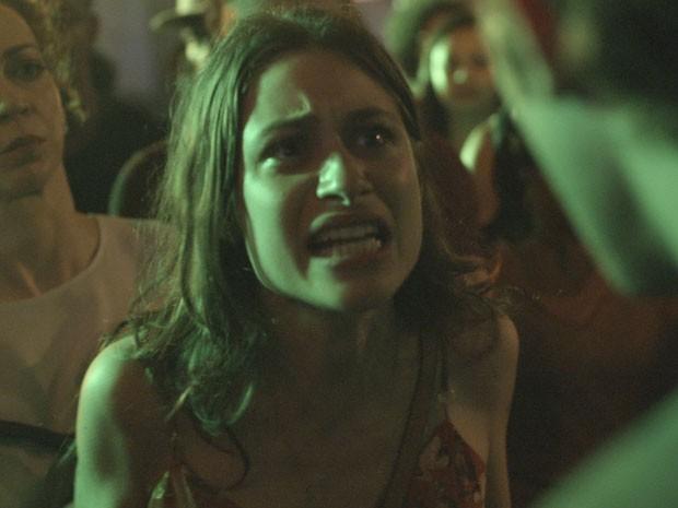Luisa Arraes gravou no útlimo fim de semana a cena em que Laís flagra o amado com outra (Foto: TV Globo)
