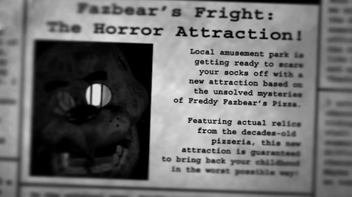 Five Nights at Freddys 3 é lançado de surpresa como um susto (Foto: Reprodução/YouTube)