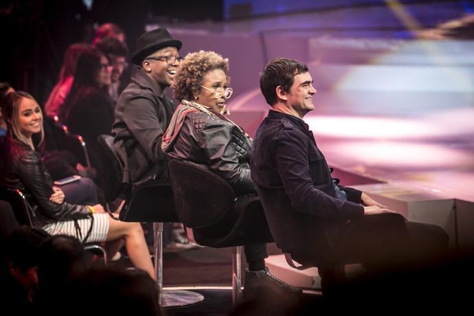 Eles adoraram participar do SuperStar e ficaram impressionados com as bandas  (Foto: Isabela Pinheiro/Gshow )