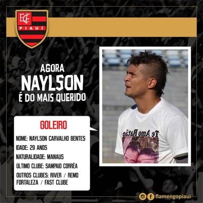 Naylson, contrato pelo Flamengo-PI (Foto: Divulgação)