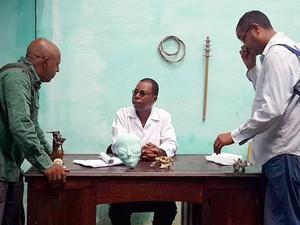 Servidor público convidou amigos do trabalho para participar do filme (Foto: Sérgio Faustino/Arquivo pessoal)