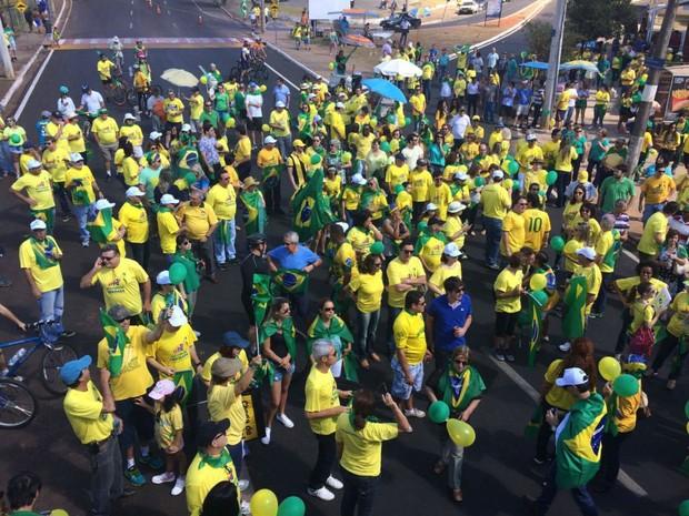 Manifestação em Uberaba 3107 (Foto: Bruno Sousa/G1)