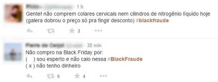 Black Friday motivou piadas nas redes sociais (Foto: Reprodução/Twitter)