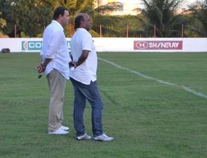 América-RN - Roberto Fernandes e Carlos Moura Dourado (Foto: Jocaff Souza/GloboEsporte.com)