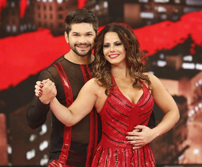 Viviane Araújo diz que sente pressão do público no 'Dança' (Foto: Ellen Soares / Gshow)