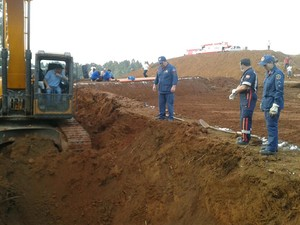 Segundo bombeiros, homens morreram na hora do acidente (Foto: Willian Leal Nunes/Corpo de Bombeiros Militar)
