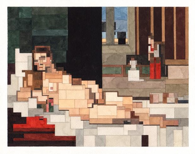 Artista recria obras de arte icônicas em pixels (Foto: Lister Gallery/Divulgação)