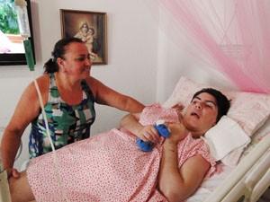 Jaine Soalheiro Miranda, 58, e sua filha, Tatiana Miranda, 34. (Foto: Cristina Moreno de Castro)