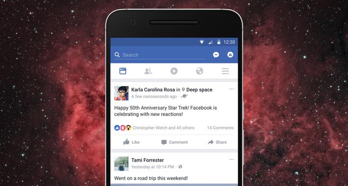 A novidade pode ser vista também no Facebook para celular (Foto: Divulgação/Medium)