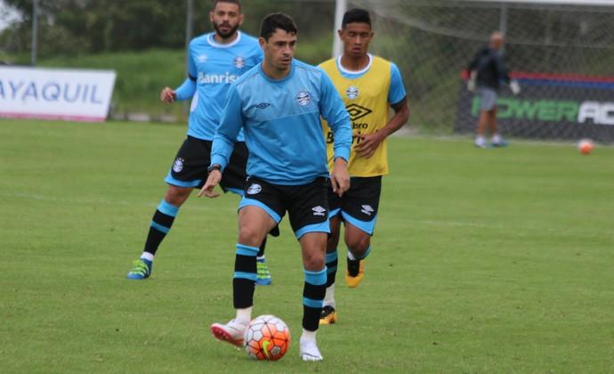 Giuliano Wesley Edinho Grêmio (Foto: Eduardo Moura/GloboEsporte.com)