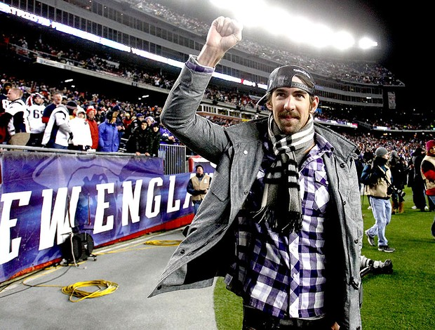 ex-nadador Michael Phelps na partida da NFL entre Patriots e Baltimore (Foto: Getty Images)