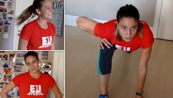 Fernanda Gentil fazia Insanity  Workout para manter a forma (Infoesporte)