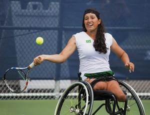 Natália Mayara levou dois ouros no tênis em cadeira de rodas (Foto: Leandra Benjamin/MPIX/CPB)