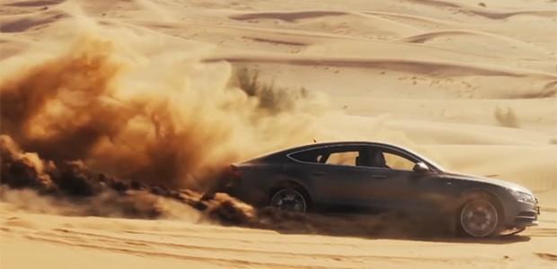 Audi A7 nas areias de Dubai (Foto: Reprodução)