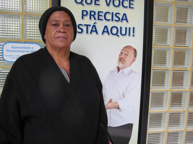 A aposentada Maria da Gloria Santos Cerqueira (Foto: G1)