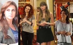 Camisetas são peças curingas nas produções das personagens de 'Em Família'