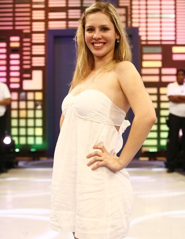 Ana Carolina em foto no dia da sua eliminação (Foto: Fabrício Mota / TV Globo)