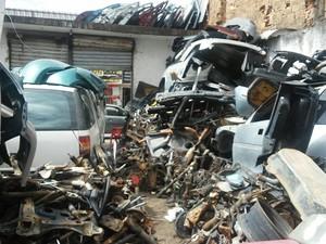 Fiscalização pretendia coibir crimes como receptação e adulteração de veículos roubados (Foto: Lucas Leite/G1)