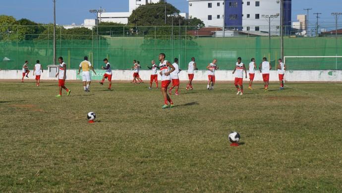 Santa Cruz de Natal - treino (Foto: Assessoria de Comunicação/Santa Cruz)