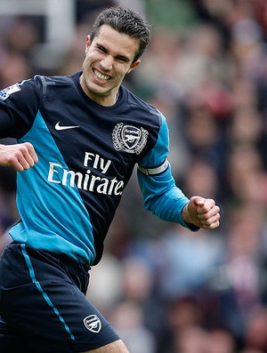 Van Persie, Stoke City x Arsenal (Foto: AP)